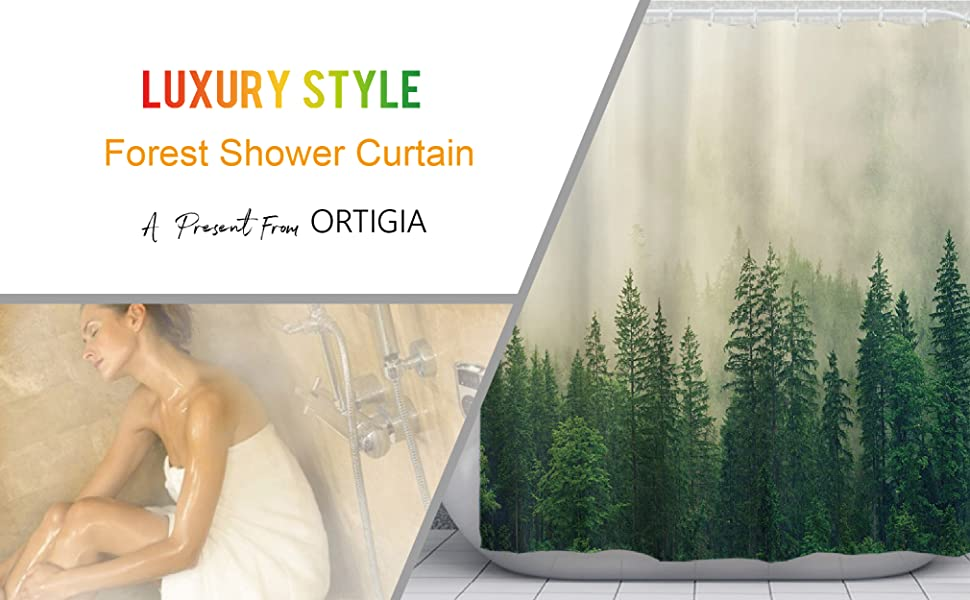 nature shower curtain forest shower curtain plant shower curtains,autumn shower curtain