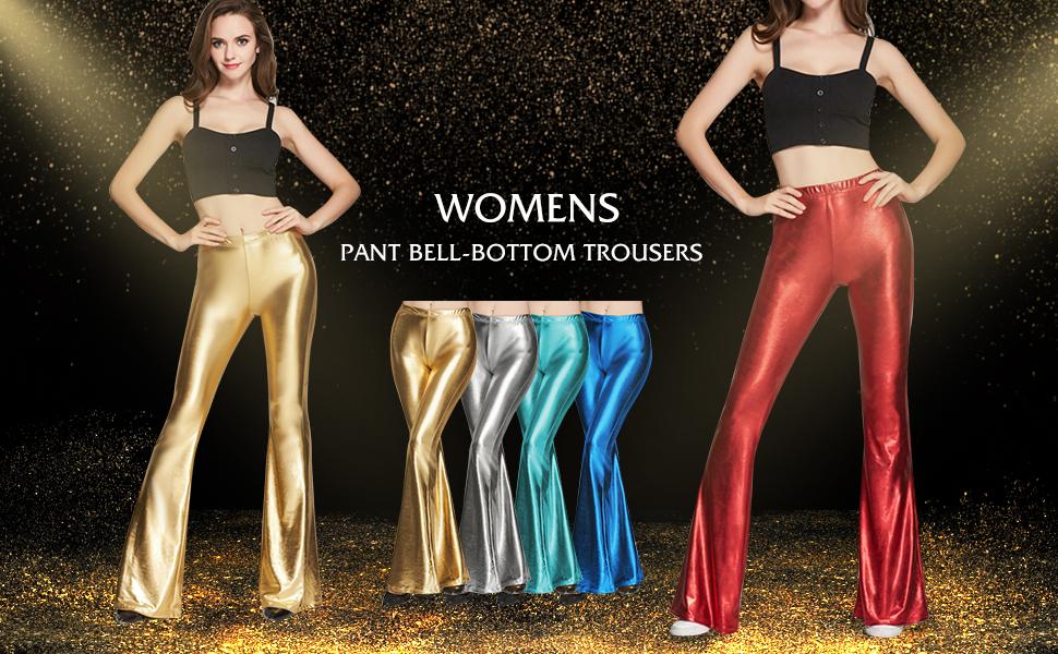 Womens New Hot Fashion Trend Popular Shinny SILVER Leggings Pants S~M~L