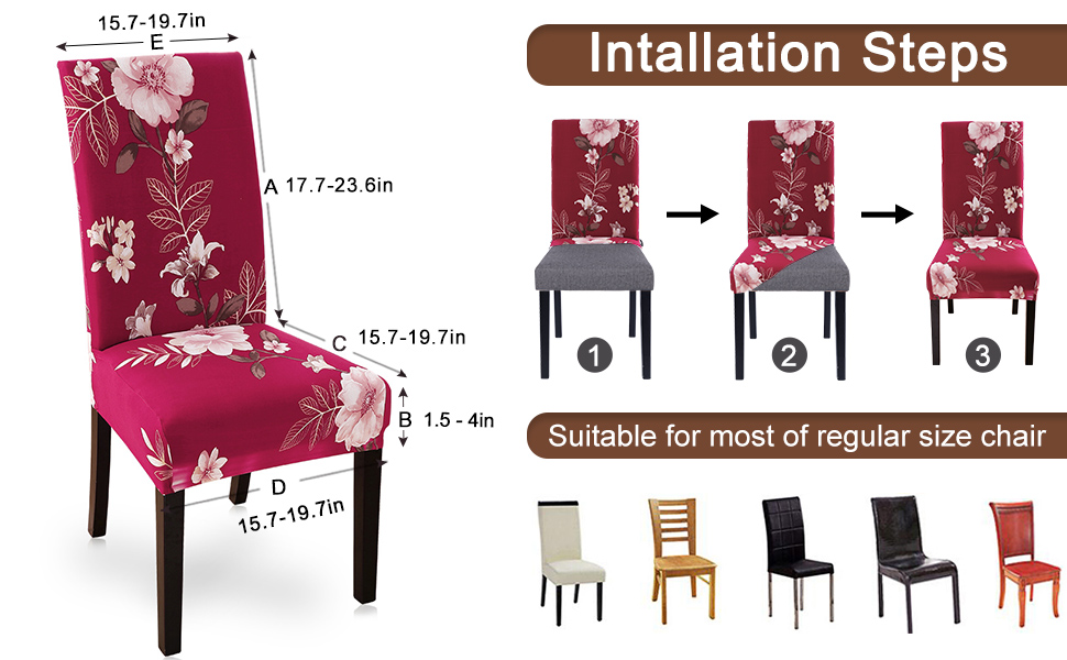 dining chair cover size