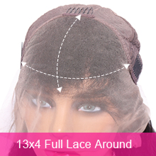 13x4 Full Lace around