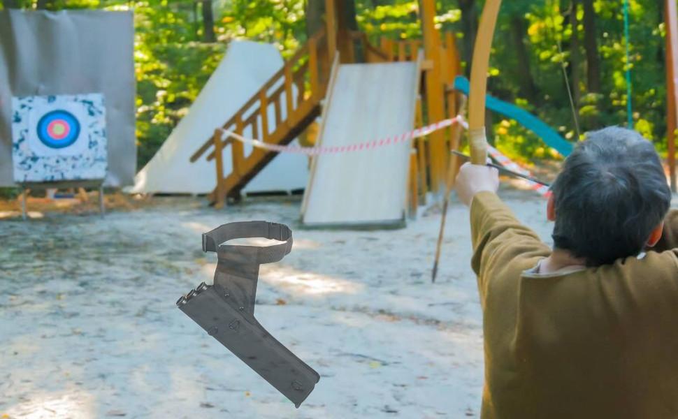 Lixada Bogenschie/ßk/öcher Tragbarer Bogenschie/ßk/öcher 3 R/öhren Pfeilk/öcher Pfeilhalter f/ür R/ücken oder Taille