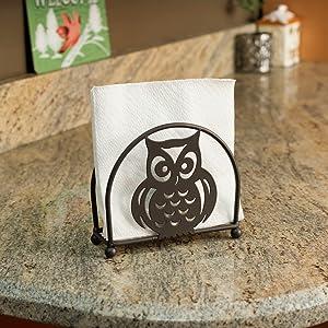 Napkin Holder, Owl Napkin Holder, napkin holder canada, serviette holder, silver napkin rings