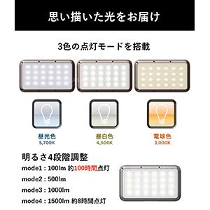 LUMENA ルーメナー LUMENA2 ルーメナー2 3色の点灯モード 明るさ4段階調整 12パターンの色温度