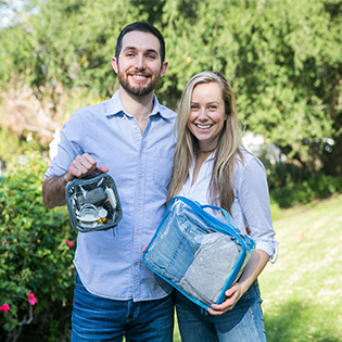 EzPacking clear packing cubes founders
