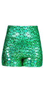 Sidecca Faux Leather Wet Look Metallic Mermaid Costume Maxi Skirt Medium, Black
