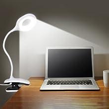 Anpro clip lamp, reading lamp