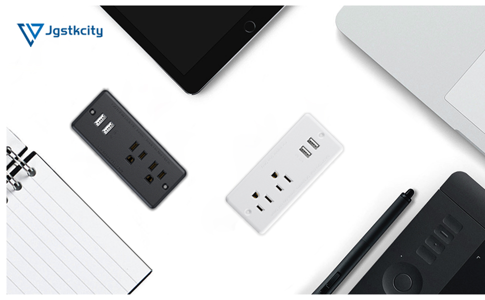 recessed power strip with usb