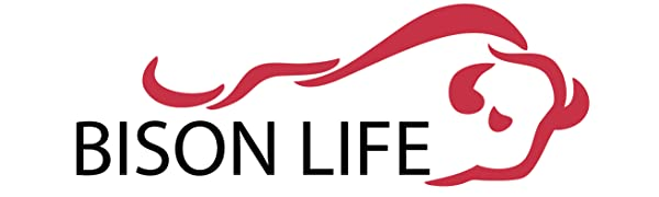 The Bison Life logo with the bison bull