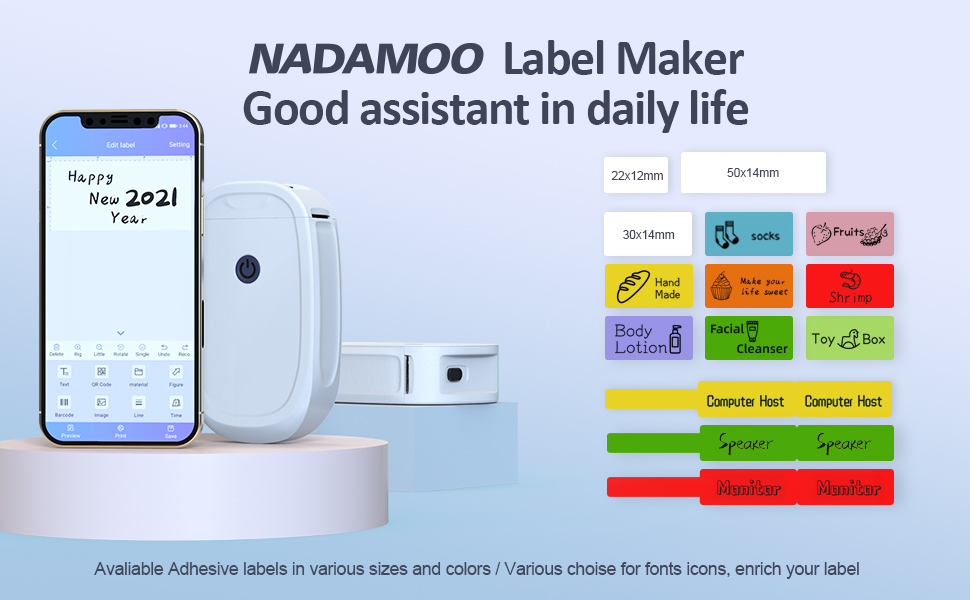 NADAMOO Lable Maker Good assstand in daily Life