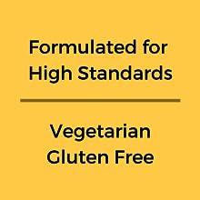 Vegeterian, gluten free