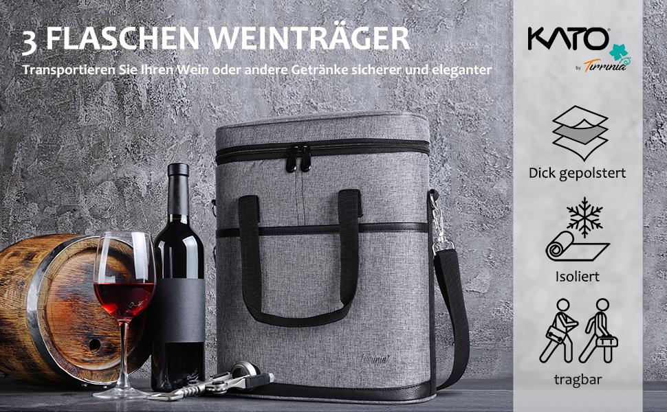 Weinflasche Kühltasche Picknick Festival Outdoor Wasser Getränke Champagner