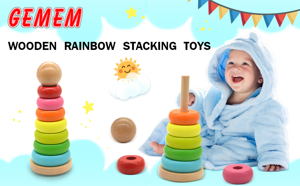 5 Pack Tower Rings Baby Toddler Learning Grab Safety Toy For Infant /& phone  lot