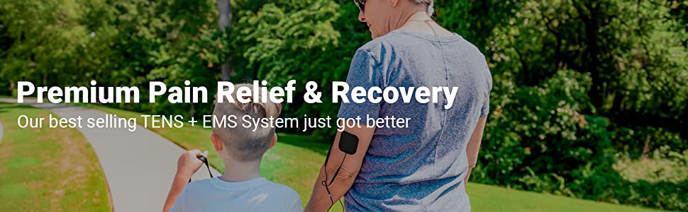 FDA Cleared iReliev TENS Unit + EMS 14 Therapy Modes, Premium Pain Relief and Recovery System