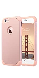 iphone6 pink Glitzer Mode Hart Soft Weiche Silikon rosegold Fall dünn hardcase damen
