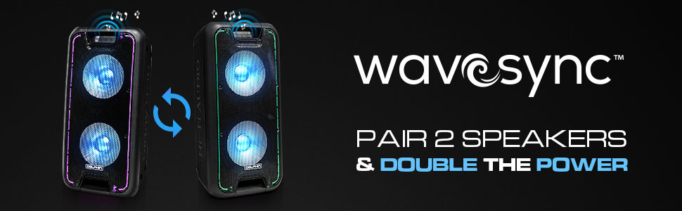 WS large speaker party stereo wavesync bluetooth tailgate outdoor bass