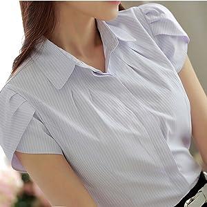 stripe button down shirt women