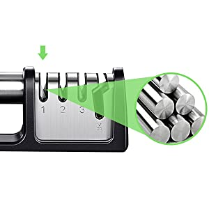 3 stage knife kitchellence knife sharpener ceramic knife sharpener kit