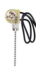 ZE-109 Pull Chain Lamp Switch (Nickel)