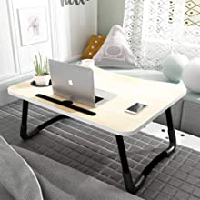 laptop table for bed adjustable foldable stand