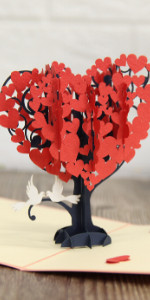 Heart Tree Anniversary Popup Card