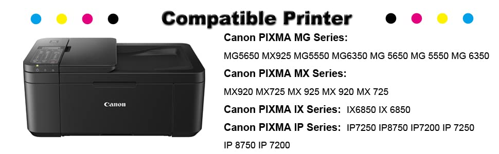 Incarler 551XL 550XL Cartuchos de Tinta Compatible con Canon CLI ...
