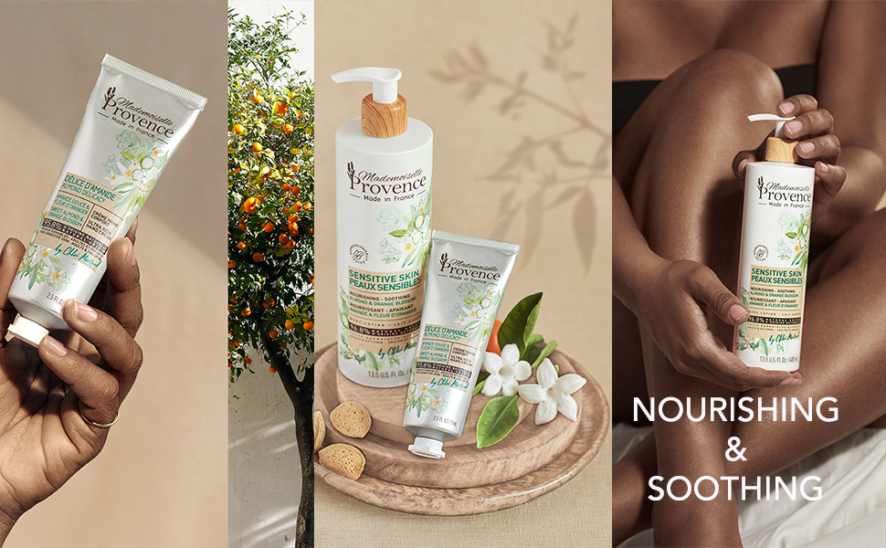 best natural almond gift sets black women French beauty organic body lotion for women orange blossom