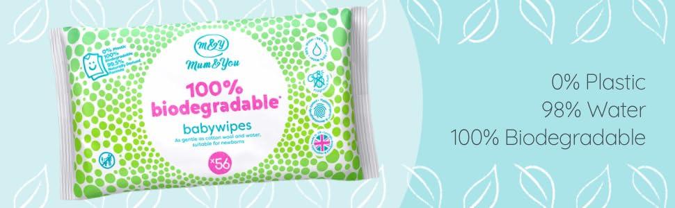 Mum & You Toallitas Húmedas Para Bebés 100% Biodegradables ...