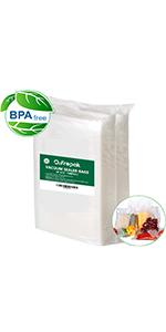 100 count pint quart gallon size vacume sealer bags for food  vacuum seal food pack precut bags