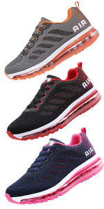 Men Women Shock Absorbing Air Running Shoes Trainers for Multi Sport Athletic Jogging Fitness