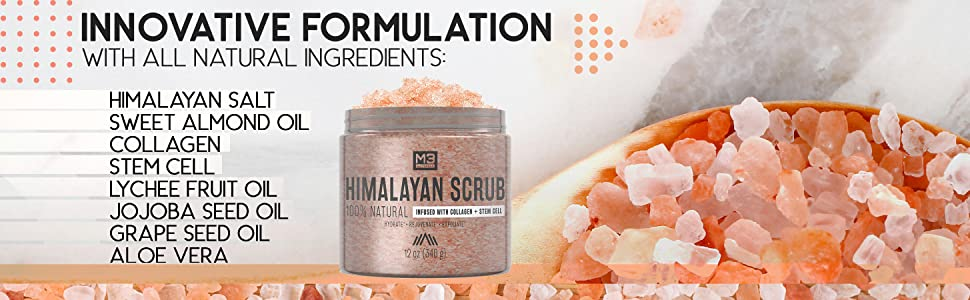 hymalian salt scrub, body, face