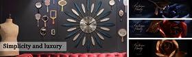 Wall Clock & Artificial Flowers & Home Decor