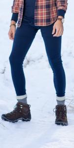 MERIWOOL 250g Mens Leggings are 100% all natural Merino wool ensures comfort all day long