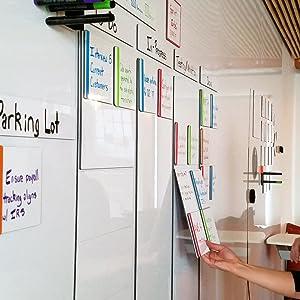 mcSquares Tiles Kit Mini Whiteboard Organization System