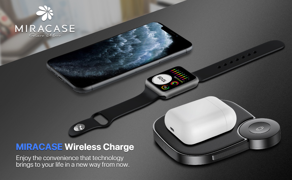 Miracase 2 in 1 Wireless Charging