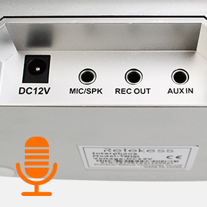 output for main and secondary speakers;