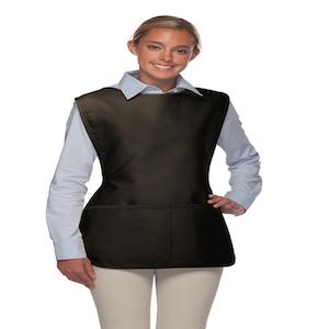 girl-black-apron-unisex-cobbler-two-pocket