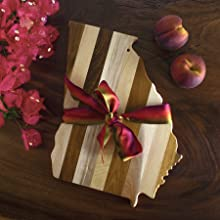 shiplap ship lap wood wooden cutting serving board decor wall art rustic cheese meat state shape