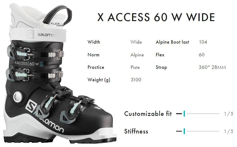 X Access 70 W Wide Womens Ski Boots
