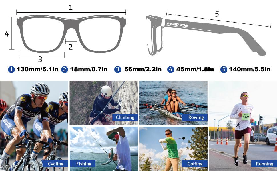 IWOCH Polarized Sport Sunglasses for Men Fishing Cycling Baseball