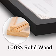 solid wood frames