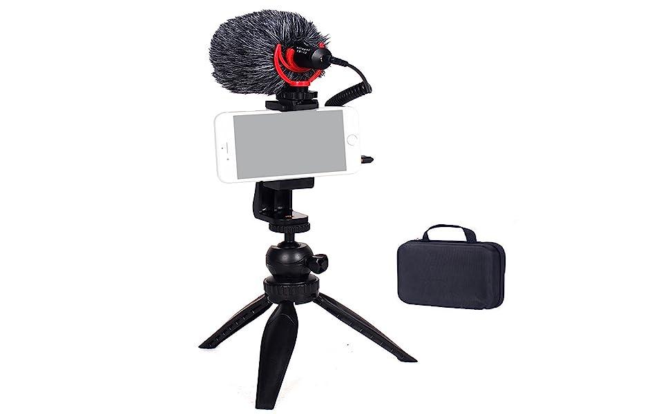 Shotgun Video Microphone,On-Camera Mini Condenser Record,Interview Vlog Mic,