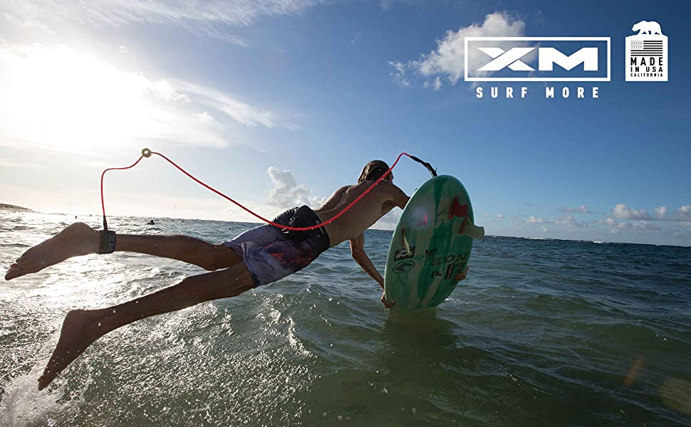XM SURF MORE SURFBOARD LEASH TANGLE FREE