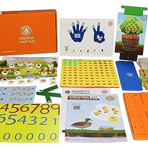 ButterFlyFields 5in 1 PreSchool Math Learning Kit for Kids 3 years 4 5 years Boys Girls