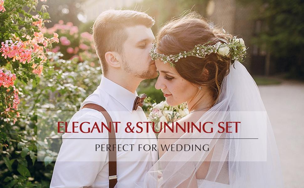 luxury pearl wedding bridal jewelry set