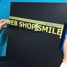 ステッカー 貼り方 カッティングステッカー ncsmile エヌシースマイル nc-smile