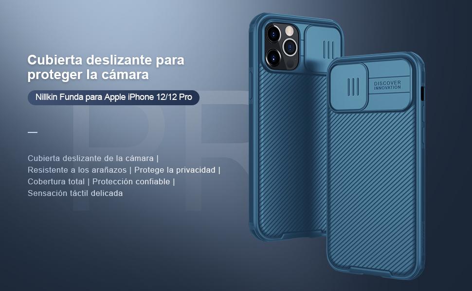 NILLKIN Funda Compatible con iPhone 12/iPhone 12 Pro,[Protección de la cámara]