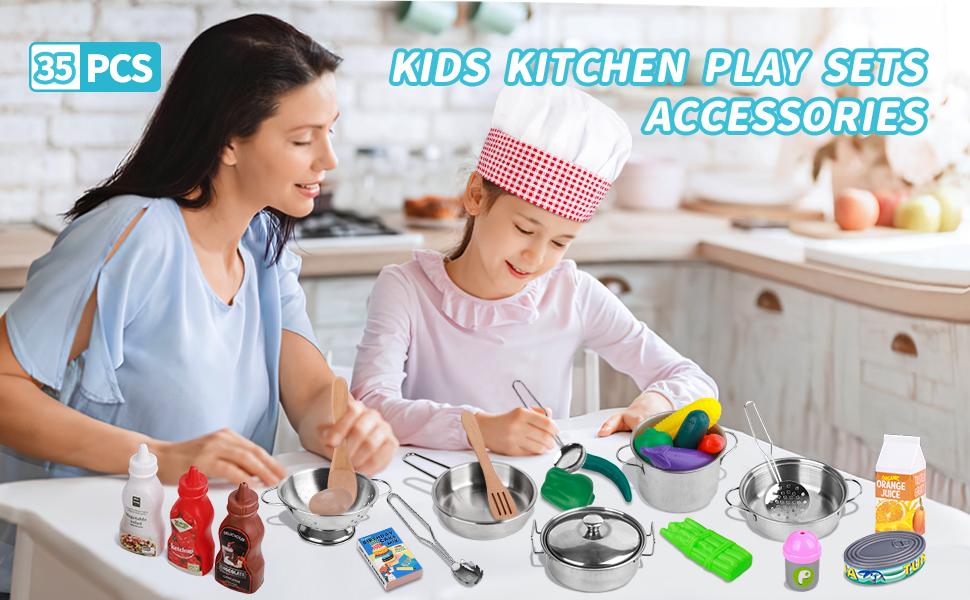 kids kitchen playsets accessories