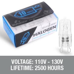 G9 Halogen replacement light bulbs 120v 20 watts light bulbs clear glass