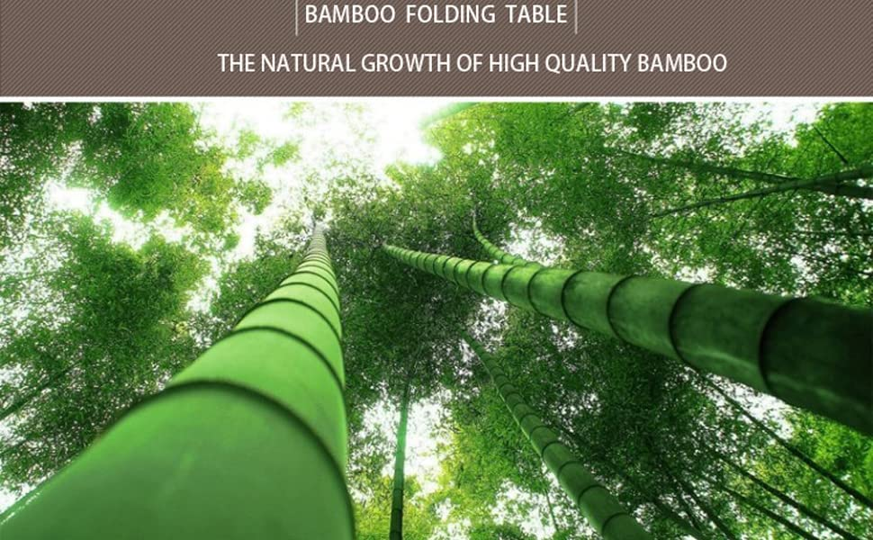 bamboo foldable table