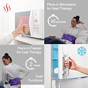 hot and cold packs, microwave for heat therapy, freezer for cold therapy, arthritis relief hot bags